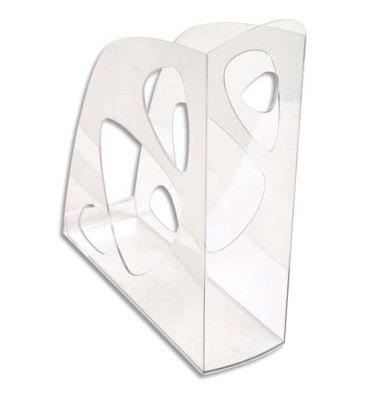 NEUTRE Porte-revues cristal - Polystyrène - Dos de 7,7 cm
