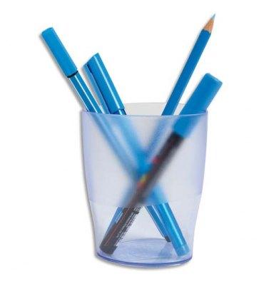 EXACOMPTA Pot à crayons ECO bleu translucide