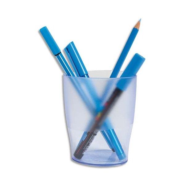 NEUTRE Pot à crayons ECO bleu translucide