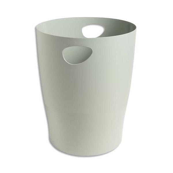 5 ETOILES Corbeille à papier 15 L grise (photo)