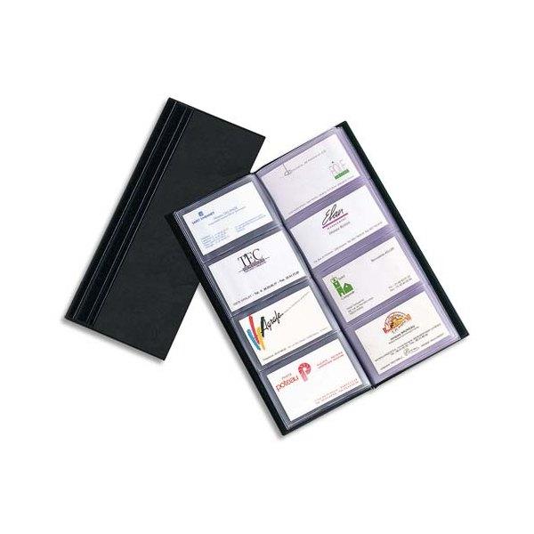 ELBA Porte-cartes de visite Elégance noir capacité 64 cartes en PVC expansé
