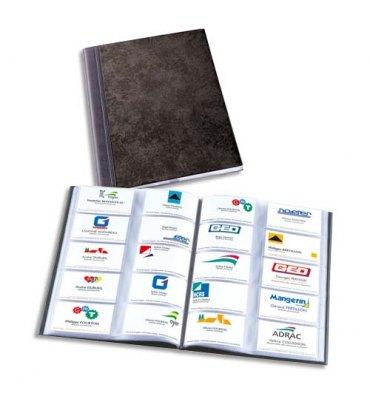 ELBA Album Elégance noir capacité 400 cartes de visite en PVC expansé format A4