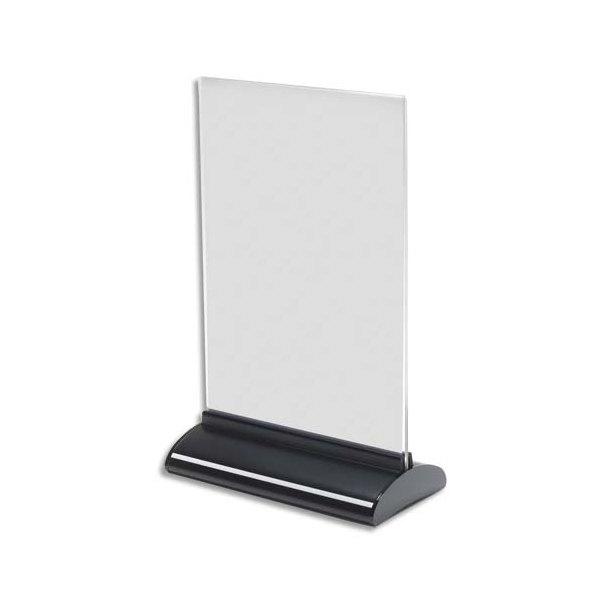 DEFLECTO Porte-visuel base extrudée A5 vertical - L15,7 x H24,3 x P7,6 cm transparent