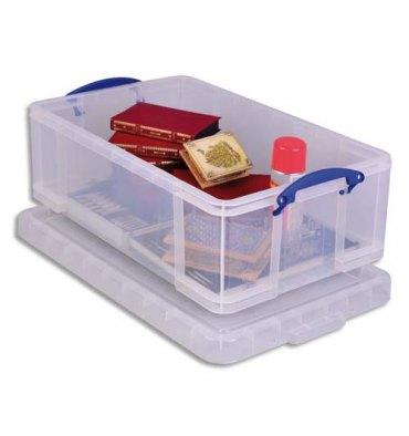 RUB Boîte de rangement 50 Litres + couvercle - Dimensions 71 x 23 x 44 cm coloris transparent