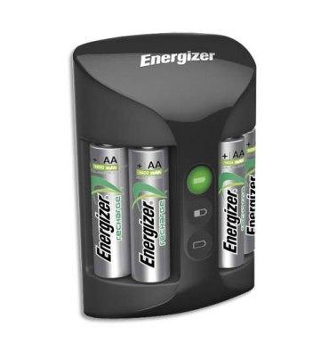 ENERGIZER Chargeur universel noir 2 ou 4 AA et AAA 3 couleurs de Leds, Livré sans accu Temps de charge 3h