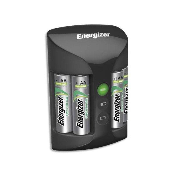 ENERGIZER Chargeur universel noir 2 ou 4 AA et AAA 3 couleurs de Leds, Livré avec accu Temps de charge 4-6H