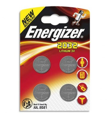 ENERGIZER Blister de 2 piles 2032 Lithium pour appareils électroniques