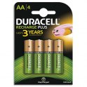 DURACELL Blister de 4 accus rechargeables 1,2V AA HR6 1300 mAh