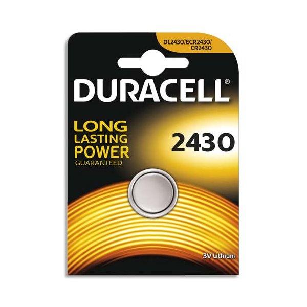 DURACELL Blister de 1 pile 2430 Lithium Duralock pour appareils électroniques (photo)
