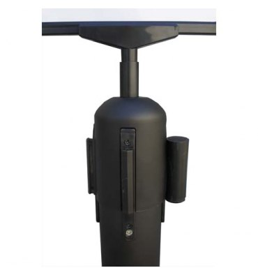 VISO Adaptateur pour poteaux Reco, 4 fentes, permet d'accrocher un panneau - D6,5 cm, hauteur 10 cm noir