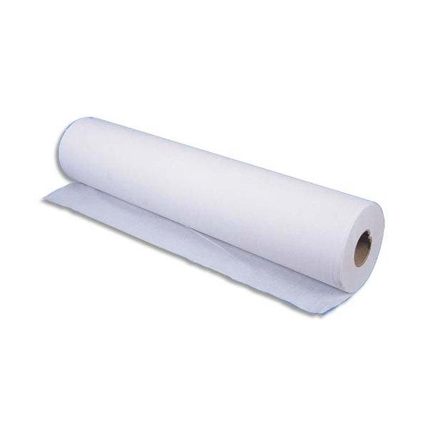 Lot de 12 Rouleaux Draps d'examen 2 plis 135 format 34 x 50 cm - L45,9 m, bobine D10,5 cm blanc