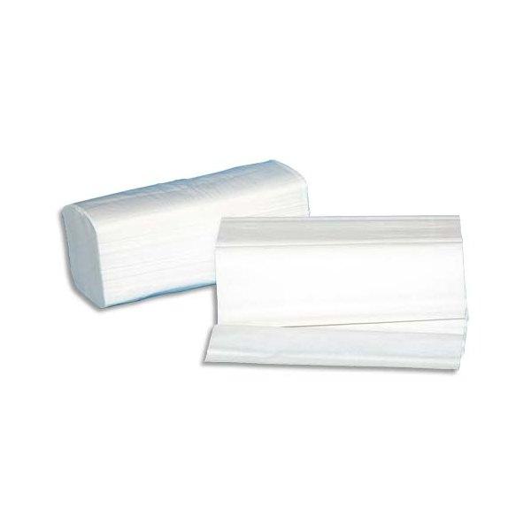 HYGIENE Colis de 30 Paquets de 100 Essuie-mains neutre 2 plis plié en W, 22 x 35 cm pour distributeur H2