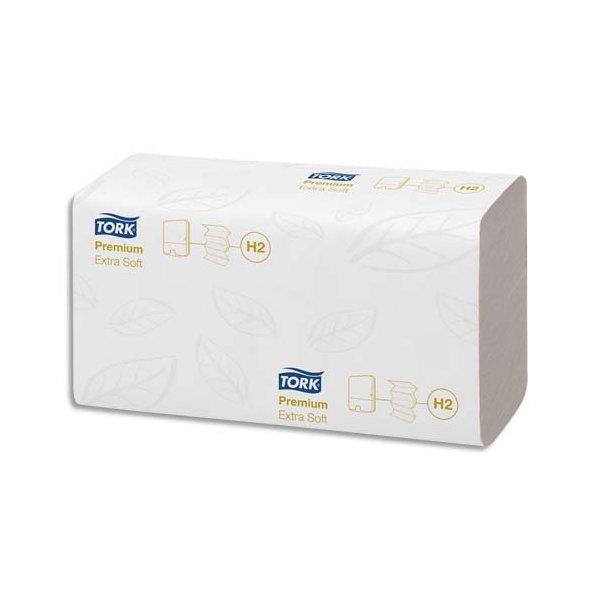 TORK Colis de 21 Paquets de 100 Essuie-mains Xpress interfoliés Extra doux Premium 2 plis M 21,2 x 34 cm