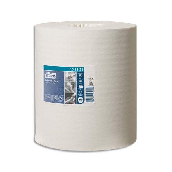 TORK Lot de 6 Bobines papier d'essuyage Plus à dévidage central M2 275 mètres, non prédécoupé blanc
