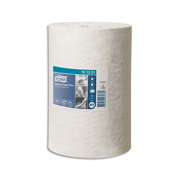 TORK Lot de 11 Bobines papier d'essuyage Plus Mini à dévidage central M1 75m Format 21,5 x 35 cm blanc
