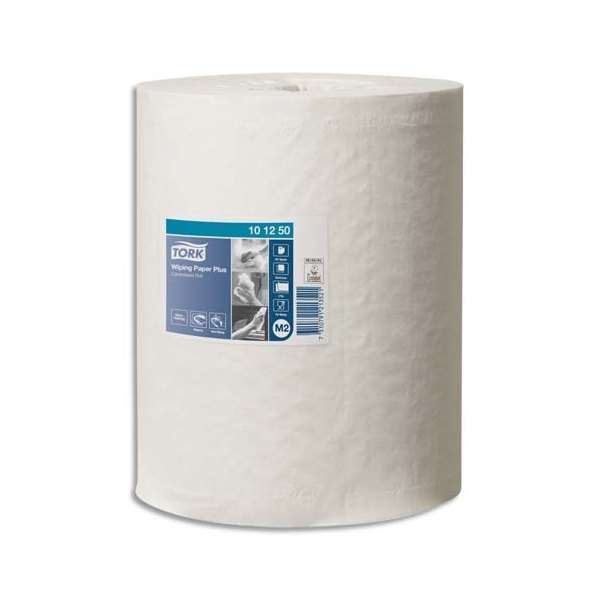 TORK Lot de 6 Bobines papier d'essuyage Plus à dévidage central M2 160 m Format prédécoupé 25 x 35 cm blanc