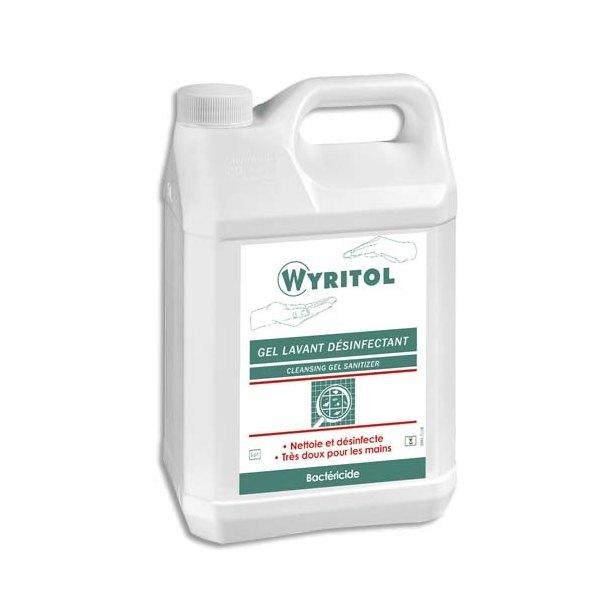 WYRITOL Bidon de 5 litres de Gel lavant désinfectant pour les mains conforme norme Bactéricide NF EN 1276