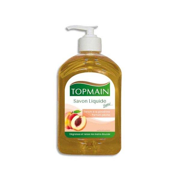 TOPMAIN Flacon de savon liquide à pompe 500 ml glycériné pêche