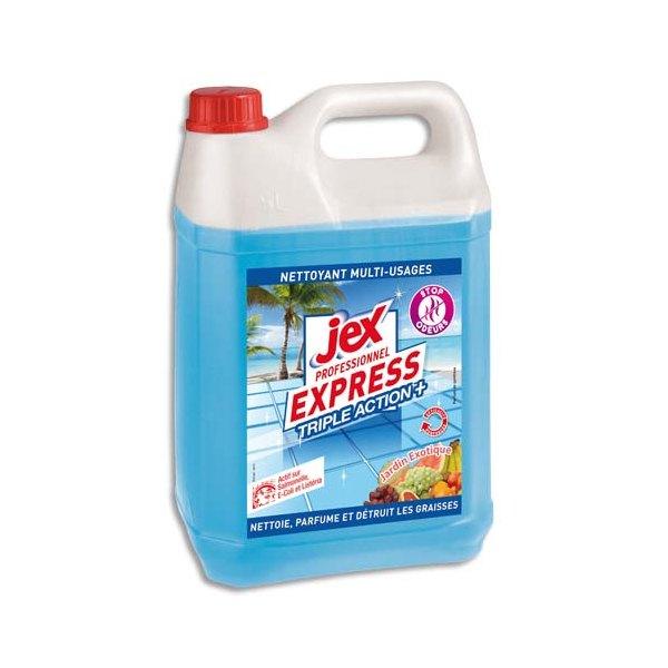 JEX PROFESSIONNEL Express Bidon de 5L Nettoyant multi-usages triple action plus parfum Jardin exotique