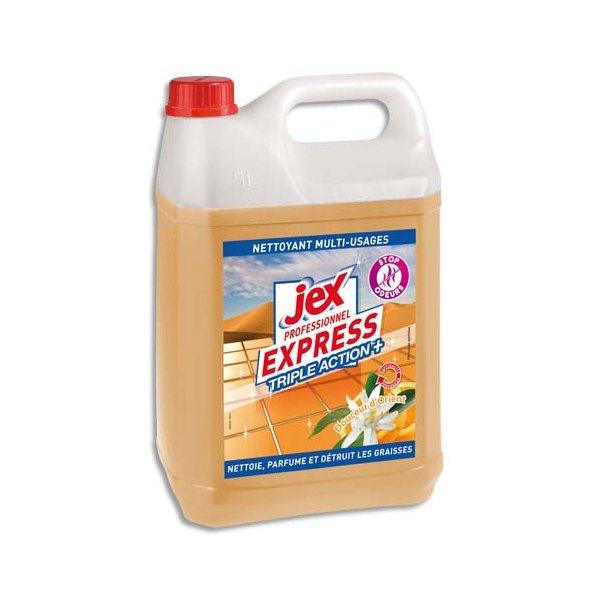 JEX PROFESSIONNEL Express Bidon de 5L Nettoyant multi-usages triple action plus parfum douceur d'orient