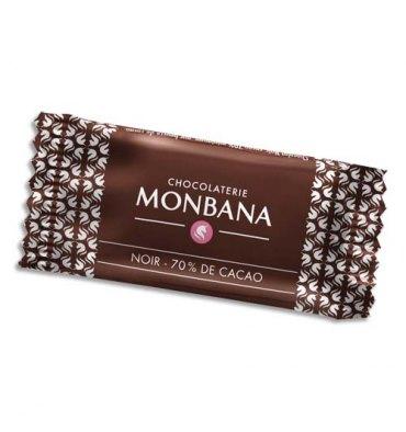 MONBANA Boîte de 200 chocolats napolitains de 4g 70% cacao emballés individuellement