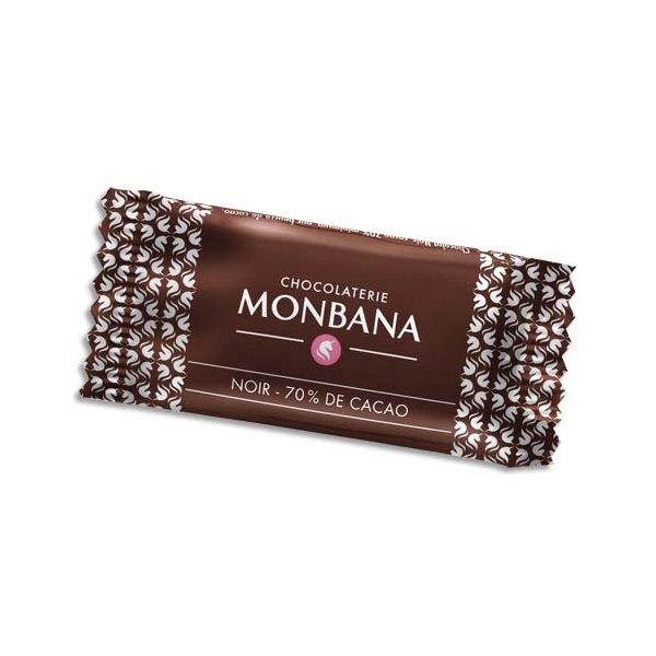 MONBANA Boîte de 200 chocolats napolitains de 4g 70% cacao emballés individuellement (photo)