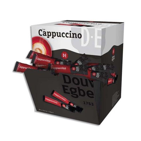 DOUWE EGBERTS Boîte de 80 sticks en poudre de cappuccino 1kg, 12,5 g par stick (photo)