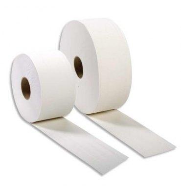 HYGIENE Colis de 12 Bobines de papier toilette 2 plis blanc Longueur 170 mètres x D18 cm, mandrin D6 cm