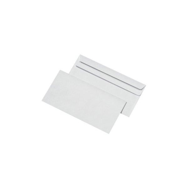 5 ETOILES Boîte de 500 enveloppes blanches autocollantes 80g format 110 x 220 mm DL (photo)