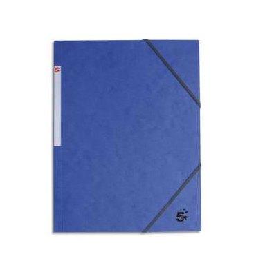 5 ETOILES Chemise 3 rabats et élastique en carte bleue
