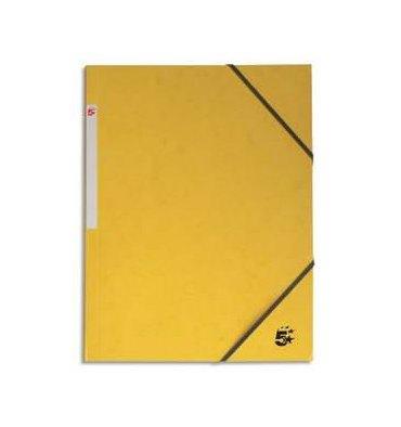 Chemise 3 rabats à élastique en carte, coloris jaune