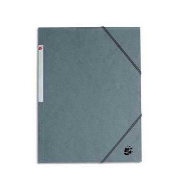 5 ETOILES Chemise 3 rabats et élastique en carte gris