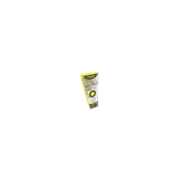 EXACOMPTA Paquet de 100 intercalaires trapèze jaune. Perforation 2 trous