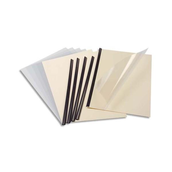 EXACOMPTA Kit de reliure manuelle pour 5 dossiers SERODO coloris ivoire