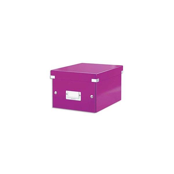 LEITZ Boîte CLICK&STORE M-Box. Format A4 - Dimensions : L281xH200xP369mm. Coloris Violet