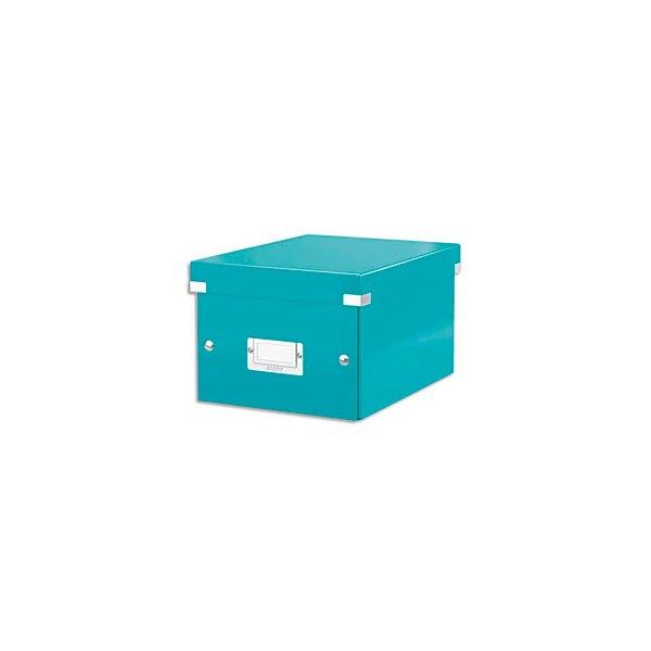 LEITZ Boîte CLICK&STORE M-Box. Format A4 - Dimensions : L281xH200xP369mm. Coloris menthe