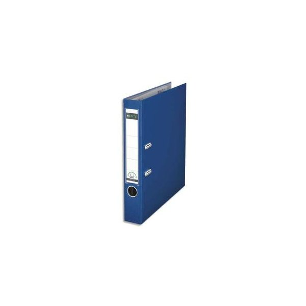 LEITZ Classeur à levier 180 degrés en carton rembordé de polypropylène dos 8 cm coloris bleu marine