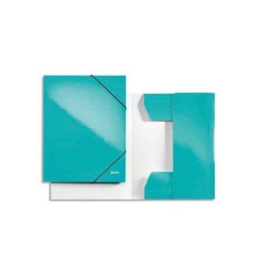 LEITZ Chemise 3 rabats et élastique en carton pelliculé WOW menthe