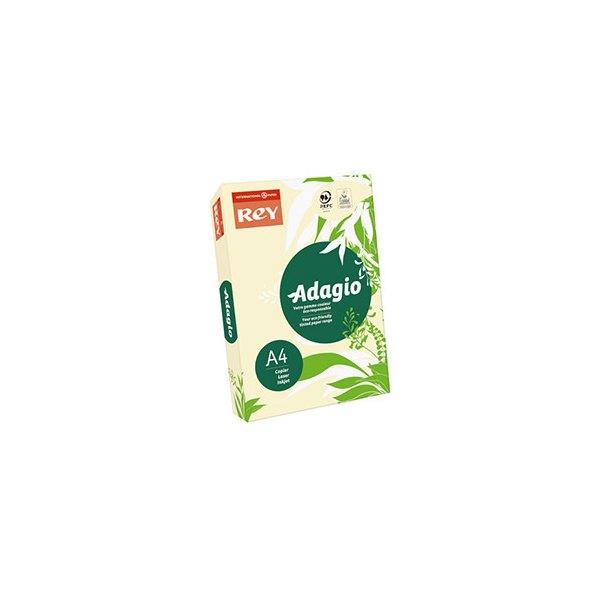REY BY PAPYRUS Ramette de 500 feuilles papier couleur ADAGIO copieur, laser, jet d'encre 80g A4 ivoire pastel