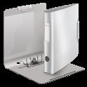LEITZ Classeur à levier STYLE 180 degrés en polypropylène, dos 75 mm, fermeture par élastique, coloris blanc