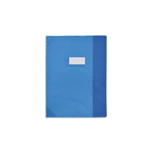 OXFORD Protège-cahier 17 x 22 cm Strong Line cristal + renforcés 30/100e bleu