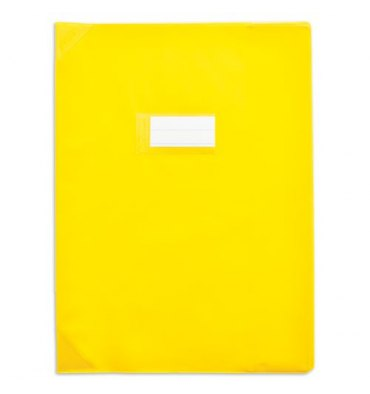 ELBA protège-cahier 17 x 22 cm Strong Line cristal 15/100e + renforcés (30/100e) Jaune