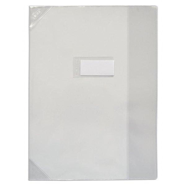 OXFORD Protège-cahier 24 x 32 cm Strong Line cristal + renforcés 30/100e. Coloris incolore