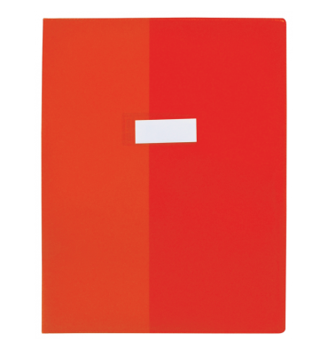 OXFORD Protège-cahier 24 x 32 cm Strong Line cristal + renforcés 30/100e. Coloris rouge