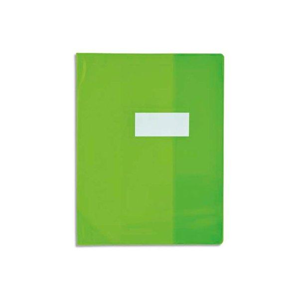 OXFORD Protège-cahier 24 x 32 cm Strong Line Opaque + renforcés 30/100e. Coloris vert