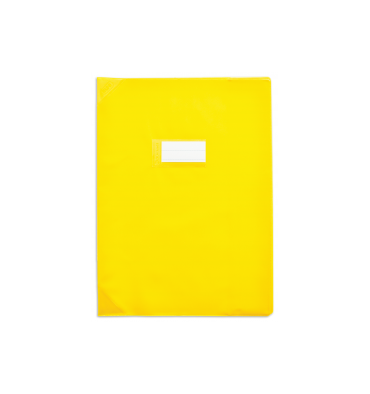 ELBA Protège-cahier 21 x 29,7 cm Strong Line Opaque 15/100e + renforcés (30/100e). Coloris jaune