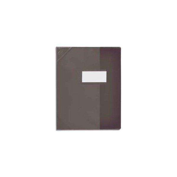 OXFORD Protège-cahier 21 x 29,7 cm Strong Line Opaque + renforcés 30/100e. Coloris noir