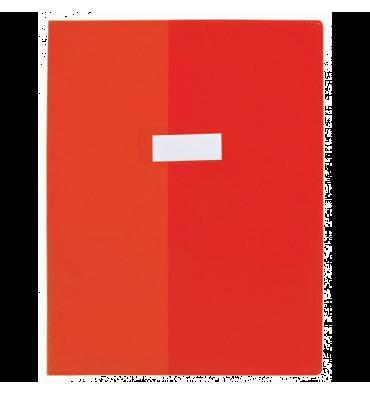 OXFORD Protège-cahier 21 x 29,7 cm Strong Line Opaque + renforcés 30/100e. Coloris rouge