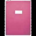 ELBA Protège-cahier School Life 17 x 22 cm PVC opaque 15/100e, coins + porte-étiquette, coloris rose