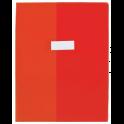 OXFORD Protège-cahier School Life 17 x 22 cm PVC opaque 30/100e, coins + porte-étiquette, coloris rouge